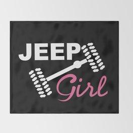 Jeep Girl Throw Blanket
