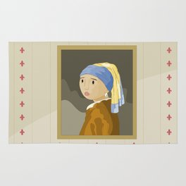 Girl with pearl by Vermeer  Rug