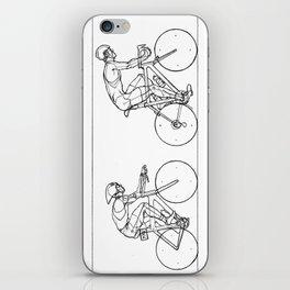 Transitions through Triathlon Cyclists Drawing A iPhone Skin