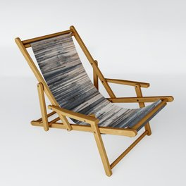 Weathered wood wall Sling Chair