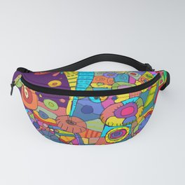 Purple Patchwork Fanny Pack