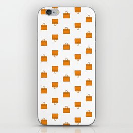 Orange Birkin Vibes High Fashion Purse Illustration iPhone Skin