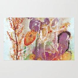 Abstract Garden Watercolor Rug
