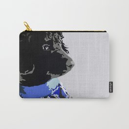 Black Standard Poodle in Blue Carry-All Pouch