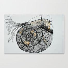 Mujer del Mar . Sea Woman. #1 Canvas Print