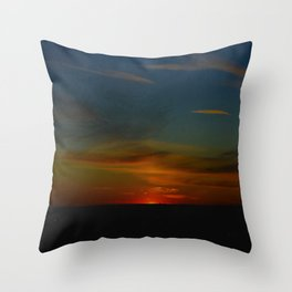 Prairie Sunset #1 (Chicago Sunrise/Sunset Collection) Throw Pillow