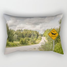 Fox crossing Rectangular Pillow