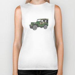 SUV. All-wheel off-road car. Biker Tank