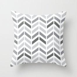 Chevron Grey Small Pattern Throw Pillow
