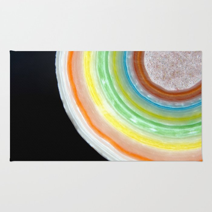 Colorful Abstract Slice of Giant Jawbreaker Candy Rug