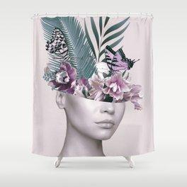 Tropical Girl 3 Shower Curtain