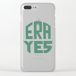 ERA YES (Green on white) Clear iPhone Case