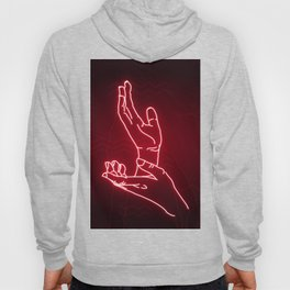 Red Neon Meanwhile Hoody