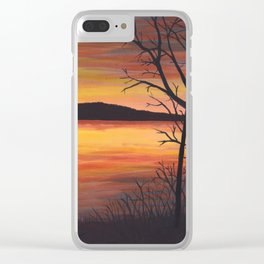 3 Visions Art Sunset Trio part 2 Clear iPhone Case