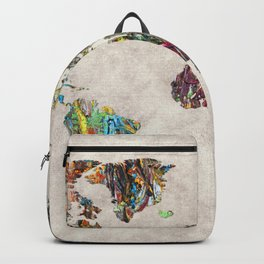 World Map 28 Backpack
