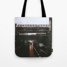 The JMZ Train in Brooklyn Tote Bag