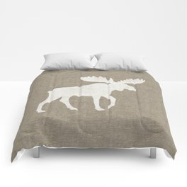 Moose Silhouette Comforters