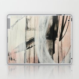 Sweet Tart [2]: a minimal abstract mixed-media piece in pink black and white by Alyssa Hamilton Art Laptop & iPad Skin