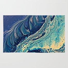 waves of blue Rug