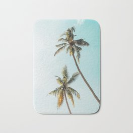 Palm Tree Beach Summer Bath Mat