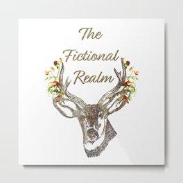 The Fictional Realm Blog Logo Metal Print