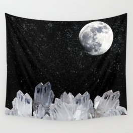 White Moon Wall Tapestry