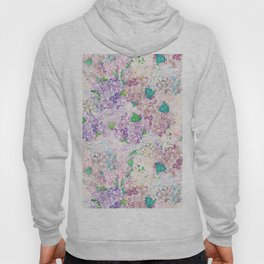 Pastel Purple and blue Lilac & Hydrangea - Flower Design Hoody