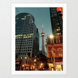 CN Tower Night Time Art Print