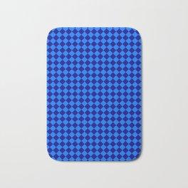 Brandeis Blue and Navy Blue Diamonds Bath Mat