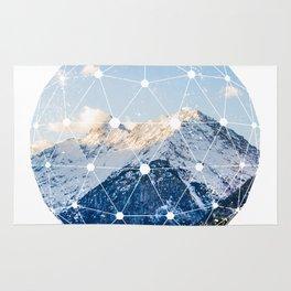 The Glowing Alps Globe Rug