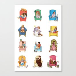 Reading fictional characters Canvas Print
