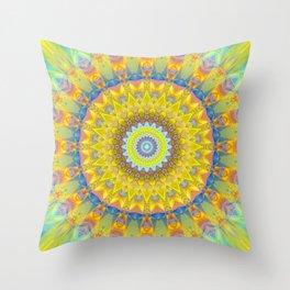 Mandala sun 2 Throw Pillow
