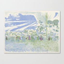 Across the Fields A travers champs Edouard Vuillard 1868 - 1940 Canvas Print