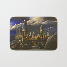 Hogwarts at Starry night Bath Mat