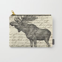western country primitive winter mountain animal wildlife moose Carry-All Pouch