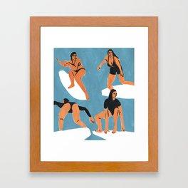 Surf Girls Framed Art Print