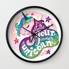 Embrace Your Inner Unicorn Wall Clock