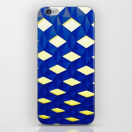 Trapez 2/5 Blue & Yellow by Brian Vegas iPhone Skin