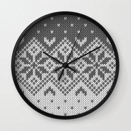 Winter knitted pattern 8 Wall Clock