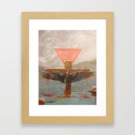 Persecution of Raven Framed Art Print