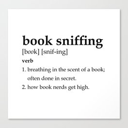 Book Sniffing Definition Canvas Print