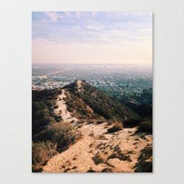 Runyon Canyon and Hollywood. Canvas Print