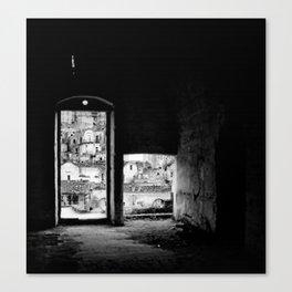 Sassi di Matera: home Canvas Print