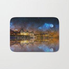 Dresden At Night Bath Mat