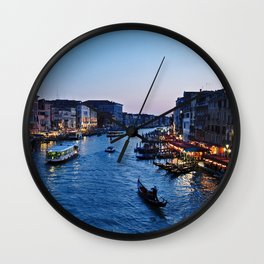 Venice at dusk - Il Gran Canale Wall Clock