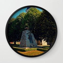 The war memorial of Eggendorf im Traunkreis Wall Clock