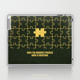 Lab No. 4 -Even The Hardest Puzzles Have A Solution Corporate Start-Up Quotes Laptop & iPad Skin