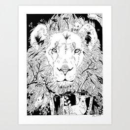 The True King Art Print