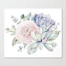 Succulent Blooms Canvas Print