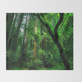 Enchanted forest mood II Throw Blanket